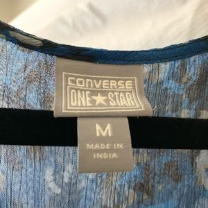 Converse Dresses - Converse Blue Watercolor Pattern Puffled Dress M